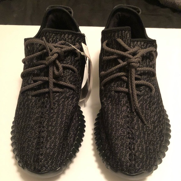 "wholesale dealer 52934 18e07 adidas yeezy boost 350 ""pirate black"" size 10 NWT"